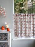 Mosaique Blue Café Curtain (Complementary)
