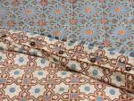 Mosaique Bleue Duvet, reverse detail
