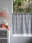 Mosaique Bleue Café Curtain