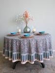 Mosaique Bleue Round Tablecloth