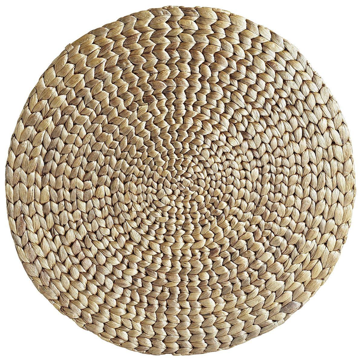 Whitewash Water Hyacinth Round Placemat