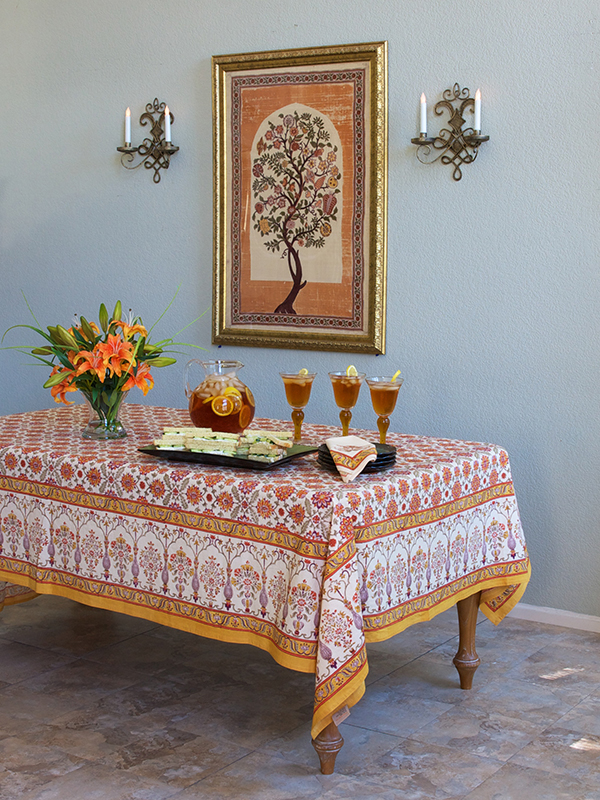 Orange Blossom tablecloth