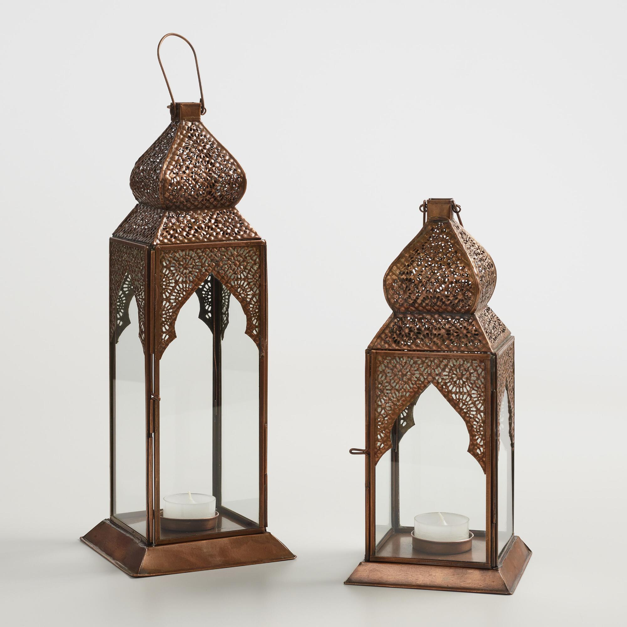 Antique Copper Layla Tabletop Lantern