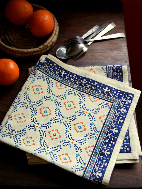 md_yellow_blue_cotton_ogee_print_french_napkin_pd