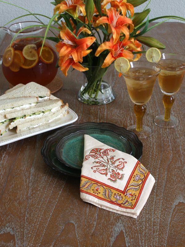 obl_persain_floral_vintage_orange_yellow_napkin_main