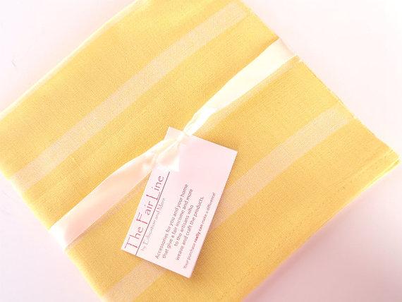 the fair line yellow napkins