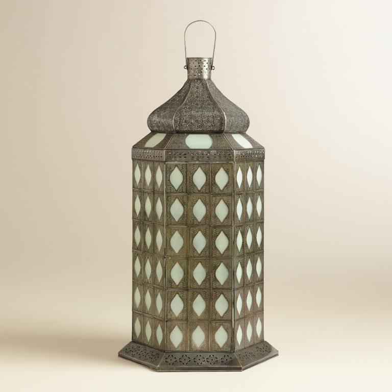 tiled tabletop lantern