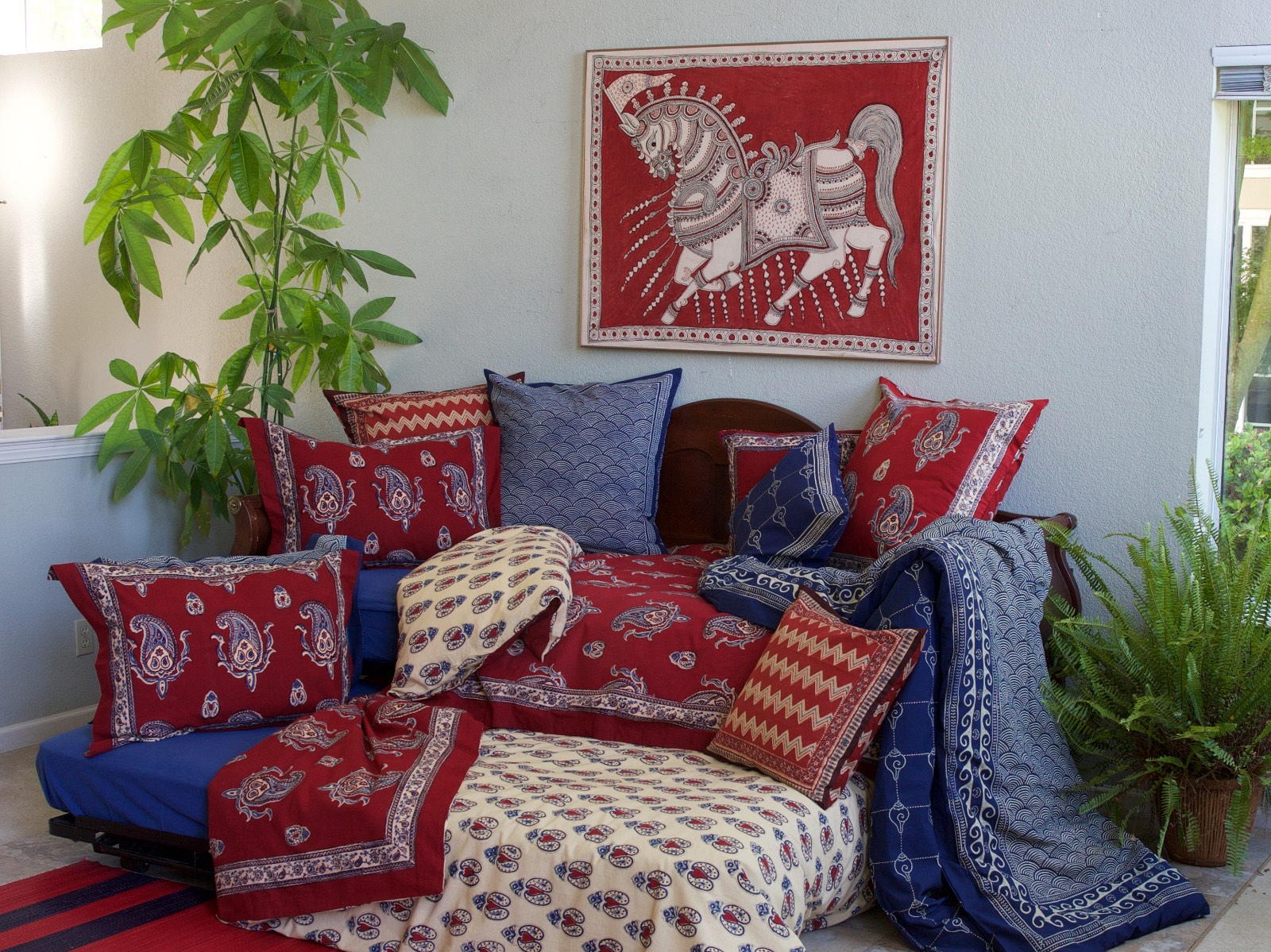 Dancing Paisley Trundle Bed
