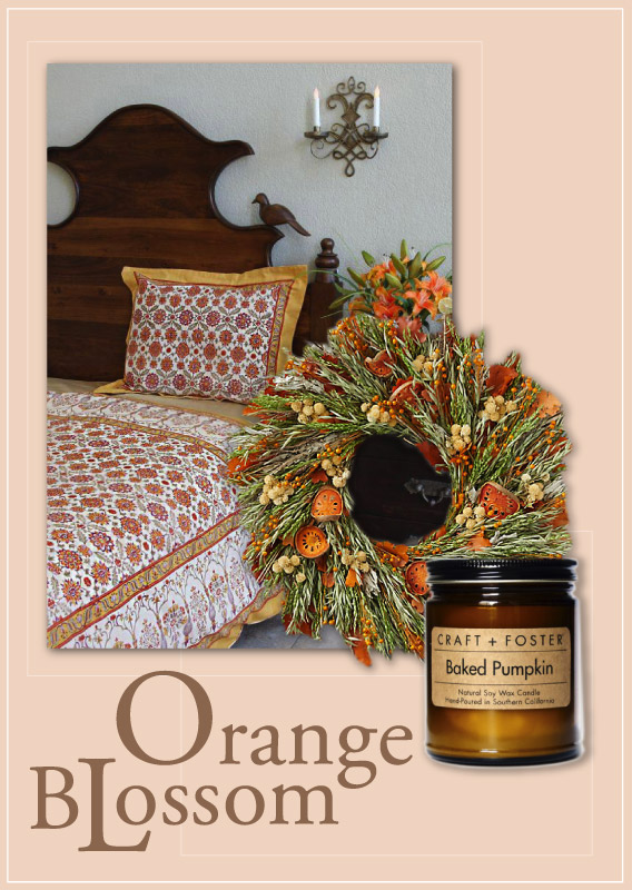 fall decorating, floral bedding, mediterranean inspiration
