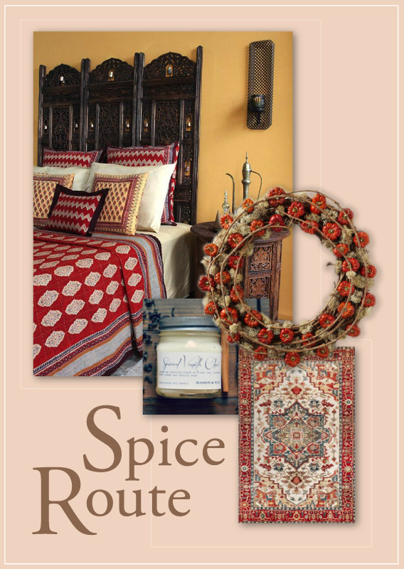 spice red bedroom for fall decorating