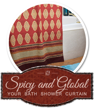Combat The Coolness Of Air By Adding Warm Fall Color To Your Bath With Our Red Global Shower Curtain Days Can Be Cold And Blustery