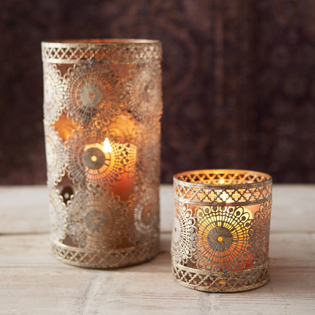 Punched Lace Votive Holder