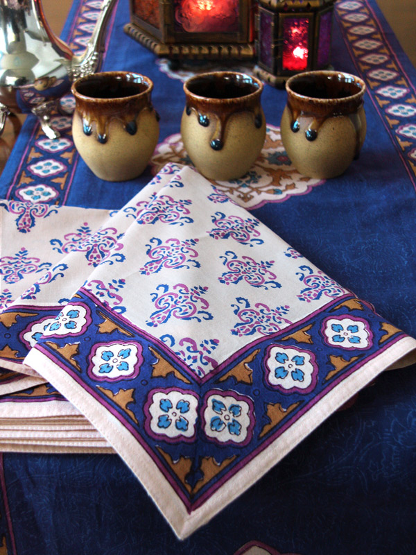 Sultans Palace ~ Moroccan Print Bohemian Cloth Dinner Napkins