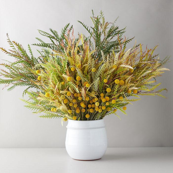Grevillea + Craspedia Bouquet