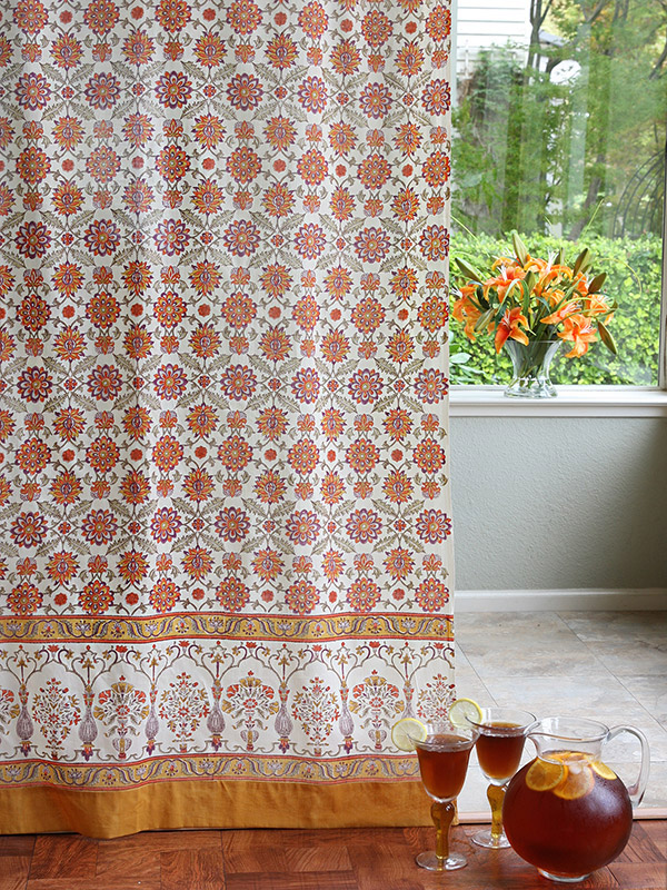 obl_persian_floral_vintage_orange_yellow_sheer_curtain_main