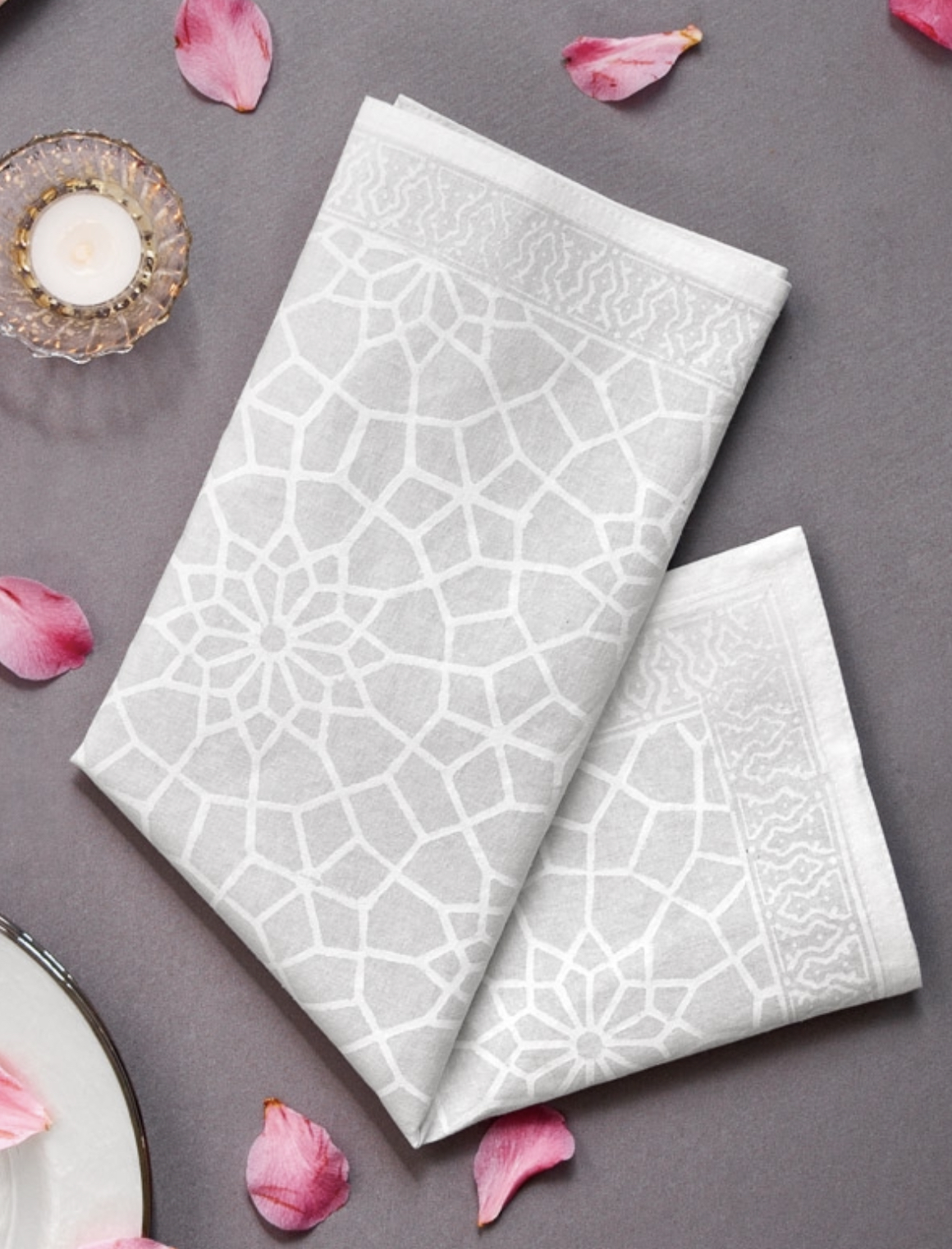 Napkins to pair with a pink tablecloth