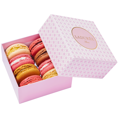Nothing will look better on a pink tablecloth than these pink macaroons