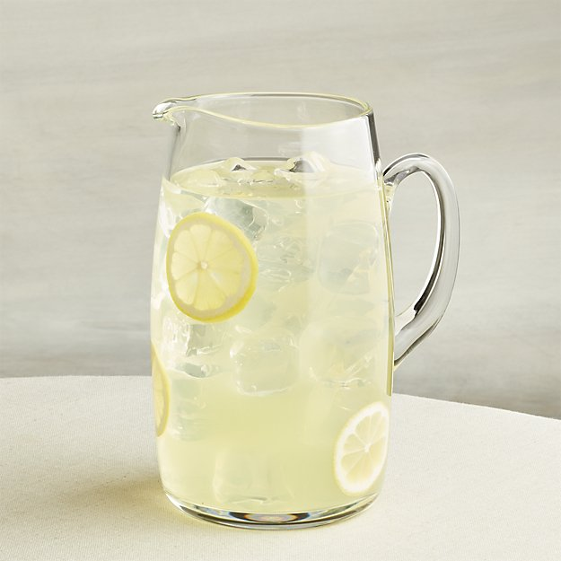 pitcher of lemonad