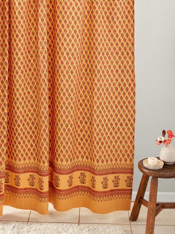 orange curtains orange window treatment