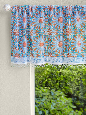 A floral valance in a happy home