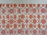 Orange Blossom Sheer Curtain (rod pocket detail)