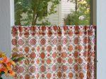 Orange Blossom Café Curtain (detail)