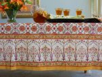 Orange Blossom Tablecloth, detail