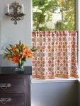 Orange Blossom Café Curtain