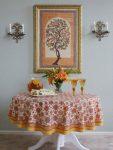 Orange Blossom Round Tablecloth