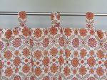Orange Blossom Sheer Curtain (tab top detail)