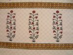 Red Poppy Bedspread (border detail)