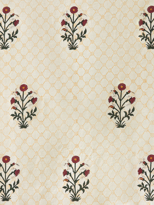 Elegant India Floral Bedding, Curtains & Table Linen