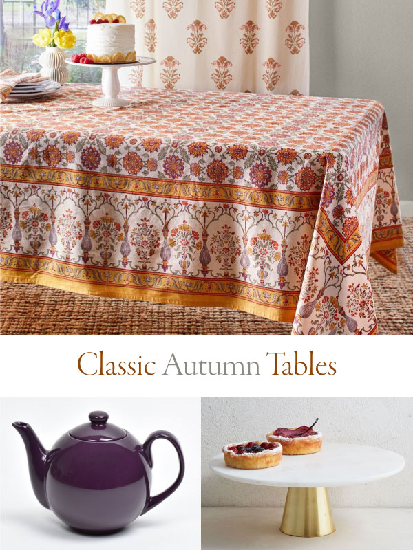 classic autumn tables