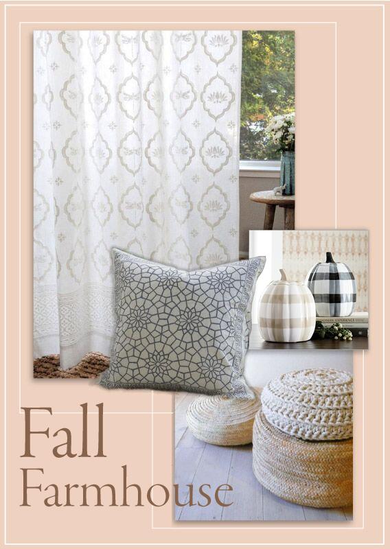 White Farmhouse Curtains Farmhouse Fall Decor Saffron Marigold