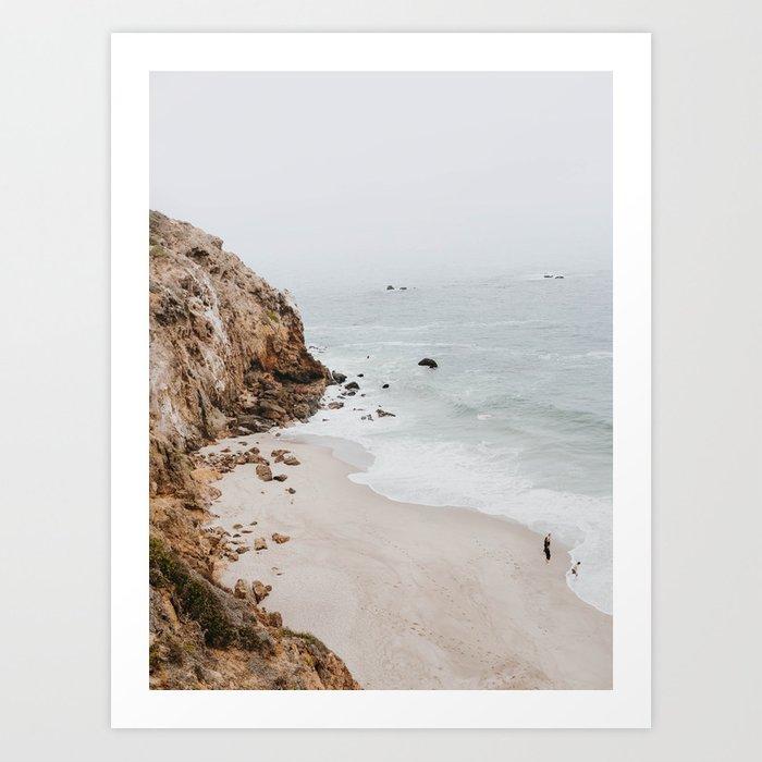 A coastal scene with neutral colors for coastal interiors