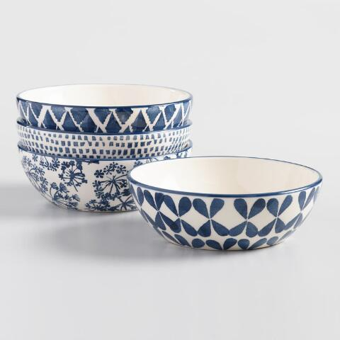Indigo Blue and Ivory Alvaro Bowls