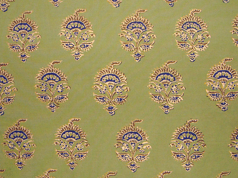 Memories of Shalimar ~ Asian India Green Fabric Swatch