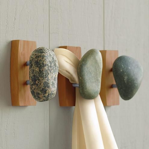 Tumbled Stone Wall Hooks