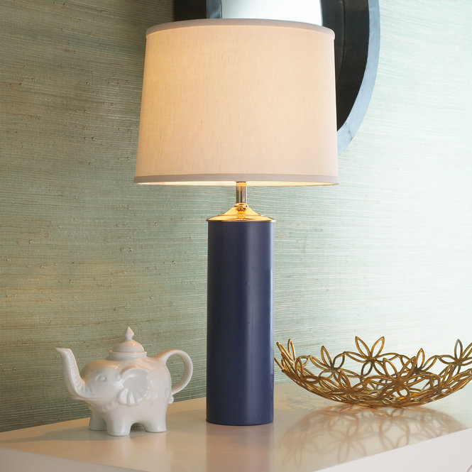 Midnight blue ceramic lamp