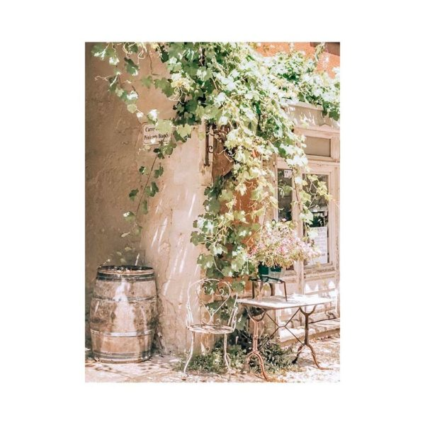 French country style cafe print