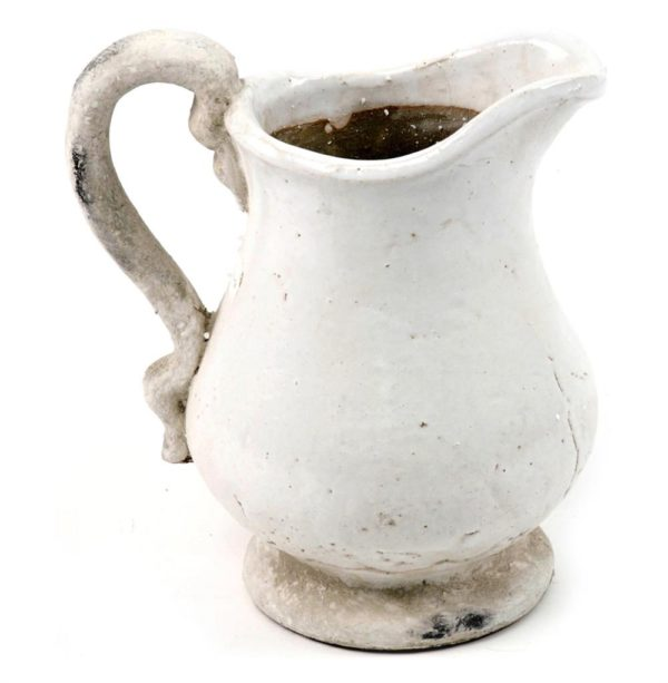 French country style stoneware pitcher