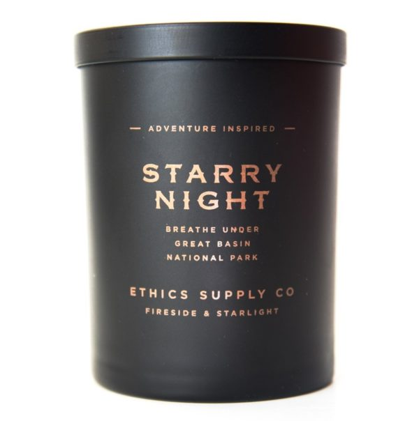 ethics supply co fireside and starlight candle
