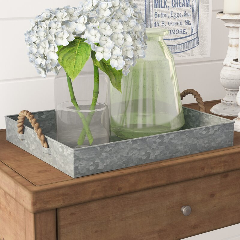 galvanized tray for country cottage style