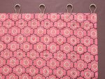 India Rose Shower Curtain (buttonhole enclosure detail)