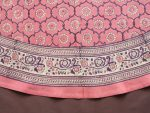 India Rose round tablecloth (border detail)