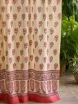 India Rose Sheer Curtain (complementary print)