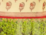 India Rose Beaded Valance (complementary print) detail