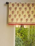 India Rose Beaded Valance (complementary print)