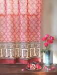 India Rose Sheer Curtain