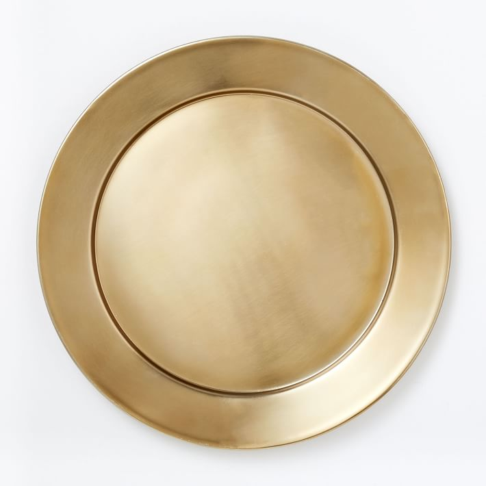 gold metal charger